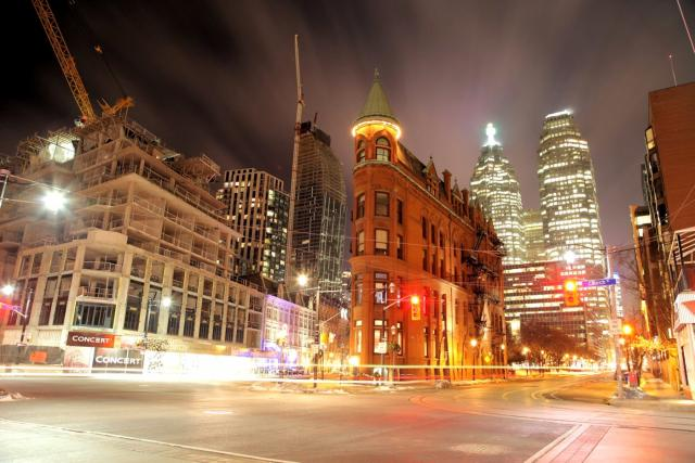 Flatiron and L Tower. Toronto