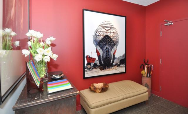Suite decorated by Janice Lindsay featuring an Edward Burtynsky print