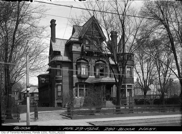 Home that once stood at 280 Bloor Street West, Toronto, 1924