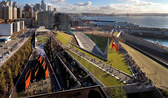Olympic Sculpture Park, Seattle, landscape design by Weiss / Manfredi