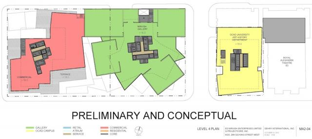 Level 4 Plan Mirvish+Gehry Toronto