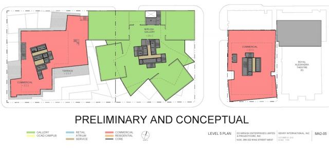 Level 5 Plan Mirvish+Gehry Toronto