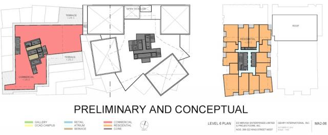 Level 6 Plan Mirvish+Gehry Toronto