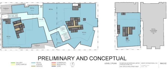 Level 2 Plan Mirvish+Gehry Toronto