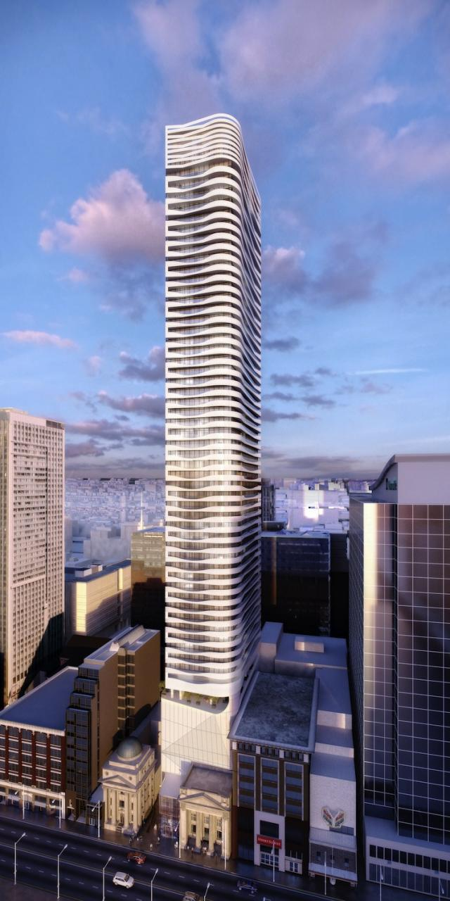 Massey Tower condos Toronto by Hariri Pontarini Architects for MOD Developments