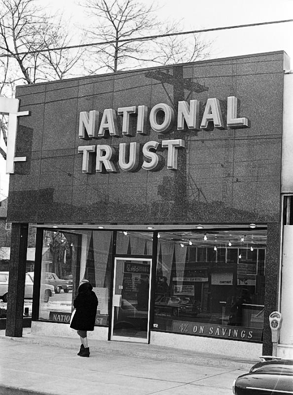 National Trust branch, Yonge and St. Germain streets, Toronto, 1960s