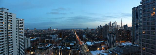 Looking south from Sherbourne and Wellesley, Toronto