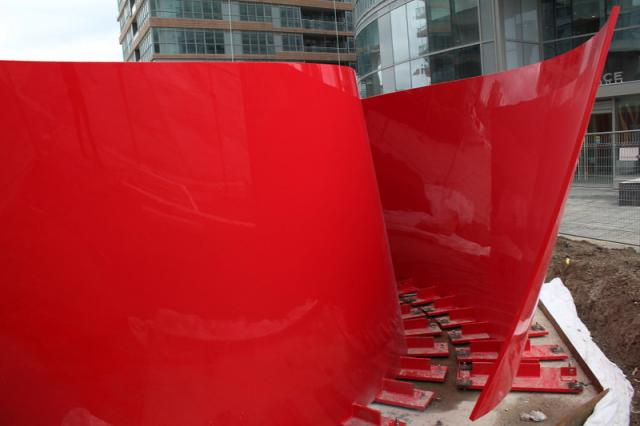 Approaching Red, awaiting attention, Concord CityPlace Toronto, image by rdaner