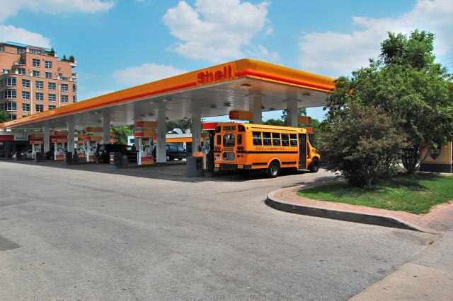 Shell gas station, Yonge and York Mills, Toronto, 2012