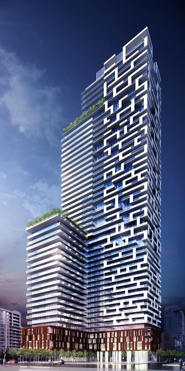 Yonge + Rich condos looking northeast, by architectsAlliance for Great Gulf