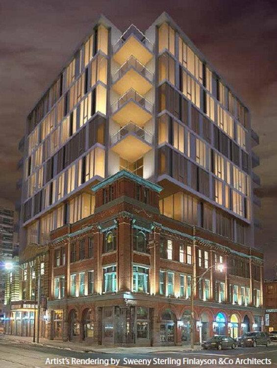 75 Victoria Street and 2 Lombard St, Toronto, image courtesy of &co Architects
