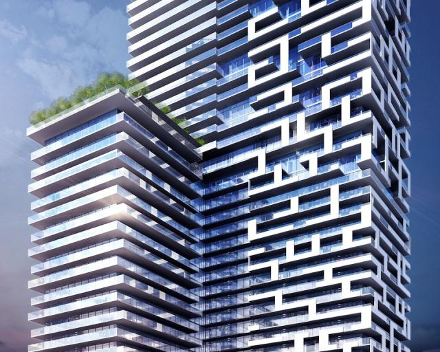 Mid-tower, Yonge + Rich condos, Toronto, by architectsAlliance for Great Gulf