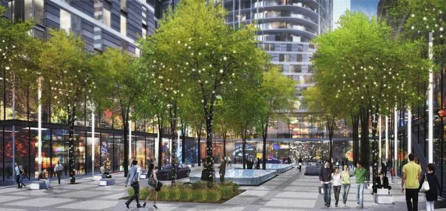 Proposed 1 Yonge plan by Hariri Pontarini for Pinnacle International, Toronto