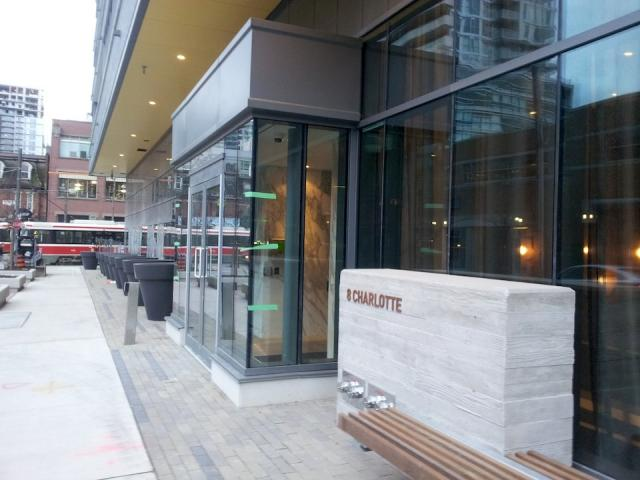 Street realm at Charlie Condos Toronto by Diamond Schmitt for Great Gulf