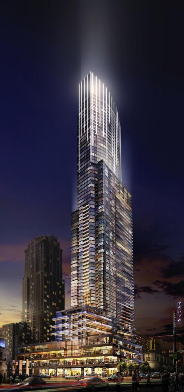 Aura at College Park condo, downtown Toronto, Canderel Stoneridge