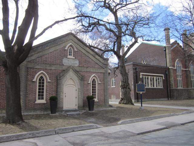 Historic, schoolhouse, Little Trinity, Anglican Church, Corktown, Toronto
