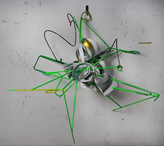 "Frank Stella ""K-51""  2008, Protogen RPT with stainless steel tubing, 76"" x 63"" x"