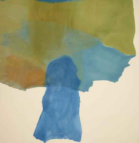 "Helen Frankenthaler ""Signal"" 1969, Acrylic on canvas 102"" x 99"""