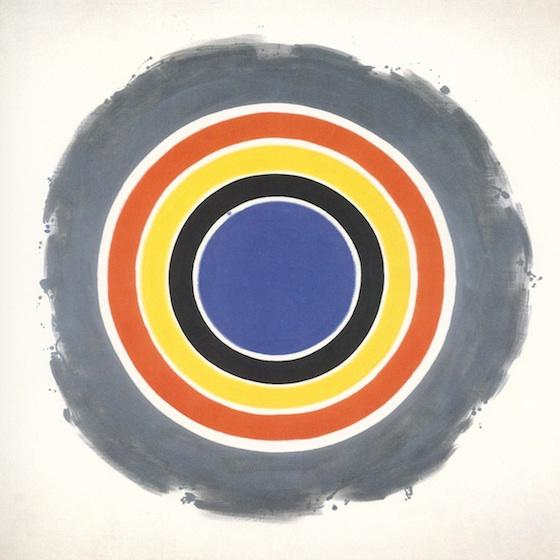 "Kenneth Noland ""That"" 1958, acrylic on canvas, 84"" x 84"""