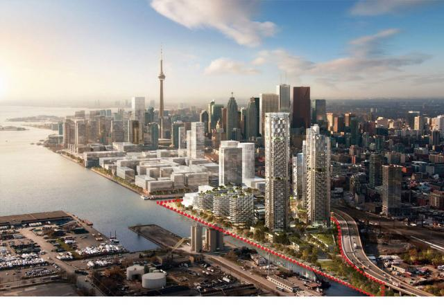 3C Waterfront Project at Lower Don Lands in Downtown Toronto