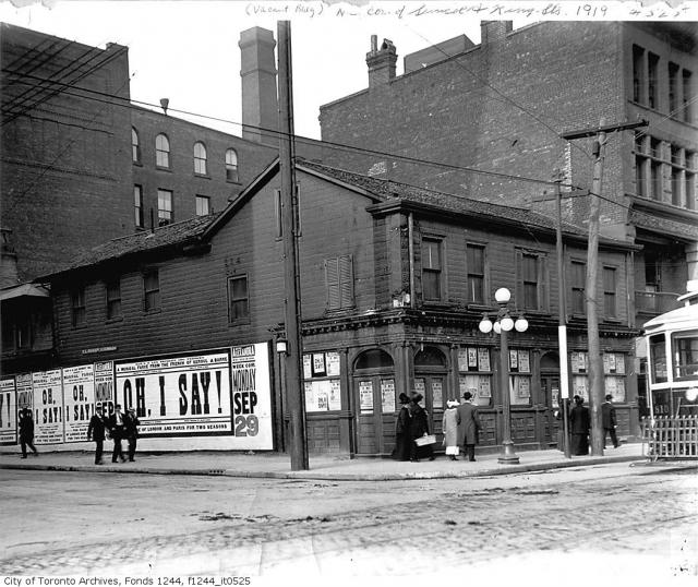 King and Simcoe, northeast corner, Toronto, 1919