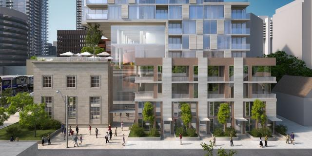 The Rockport Group's plan for Montgomery Square condos Toronto by Raw Design
