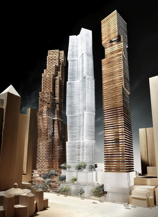 Gehry Partners concept model for Mirvish+Gehry in Downtown Toronto, Projectcore