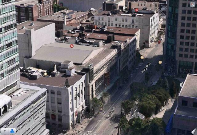 King Street West, from the TIFF Bell Lightbox to the Royal Alexandra, Apple Maps