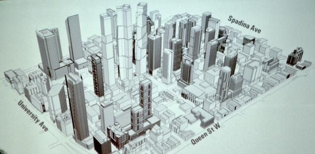 Mirvish+Gehry with surrounding Entertainment District projects, Toronto