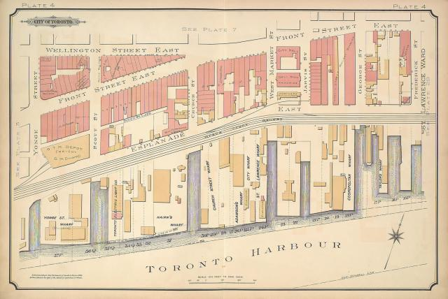 Map of Toronto Harbour, 1890