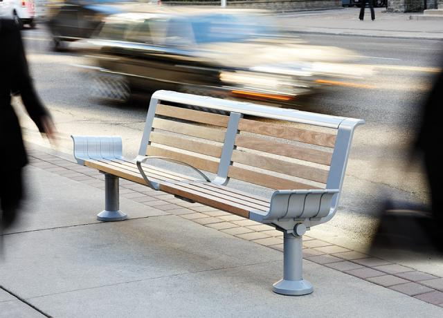 bench, public seating, Kramer Design Associates