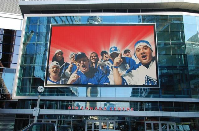 media screen, Maple Leaf Square, Kramer Design Associates