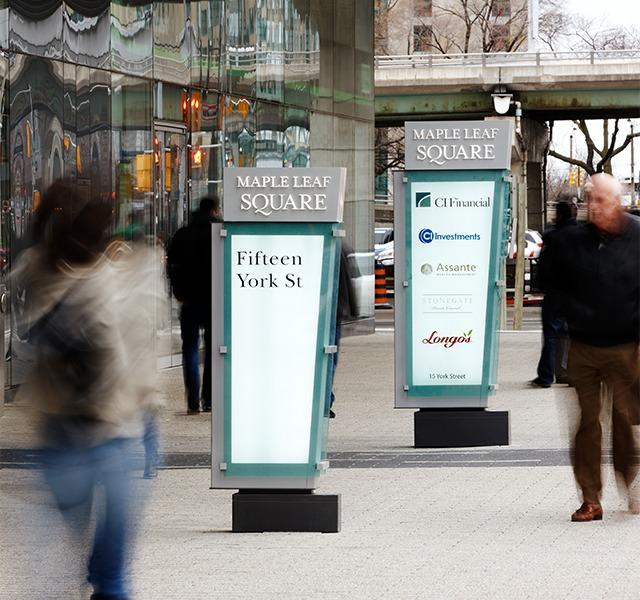wayfinding, signage, Maple Leaf Square, Kramer Design Associates