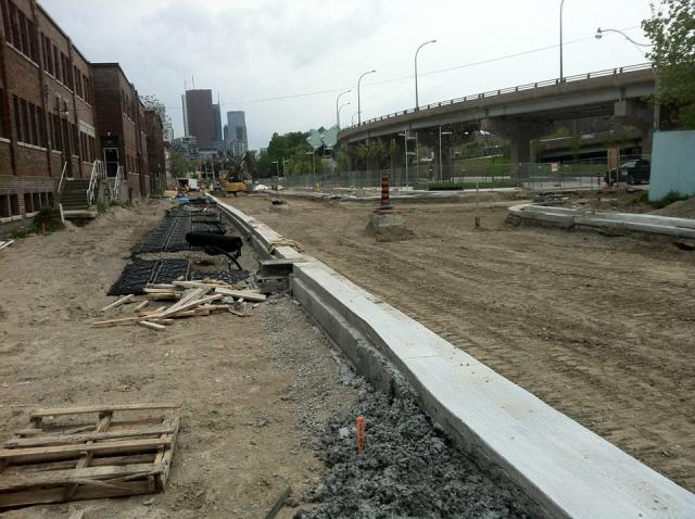 Curbs for Old Eastern Avenue at the CIBC Pan Am and Parapan Am Athletes' Village