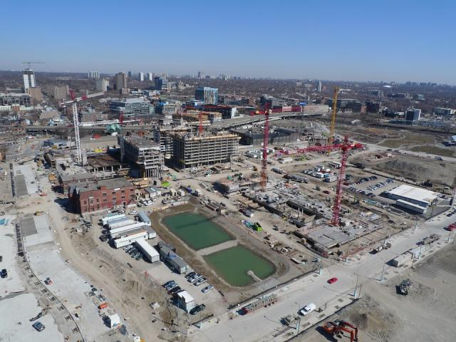 April 4 aerial view of the CIBC Pan Am and Parapan Am Athletes' Village, Toronto