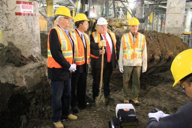 MP John Carmichael, Councillor Denzil Minnan-Wong, Mayor Rob Ford, Deputy Mayor