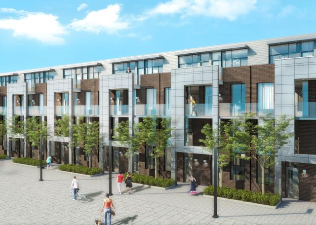 Streetcar developments releases urban towns at the carlaw for Townhouse construction cost