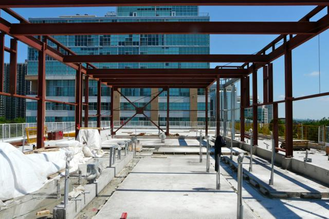 The future mechanical penthouse atop Westwood Condominiums by the Alterra Group