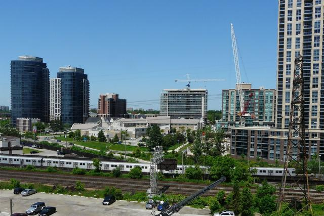 View to the northwest from Westwood Condominiums by the Alterra Group, Toronto