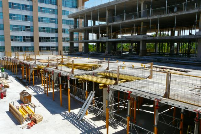 Preparing for the terrace at Westwood Condominiums by the Alterra Group, Toronto