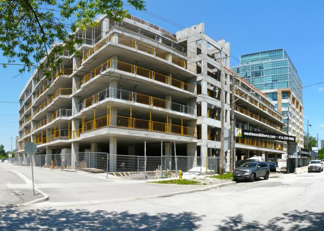 Westwood Condominiums by the Alterra Group from Fieldway Road, Toronto