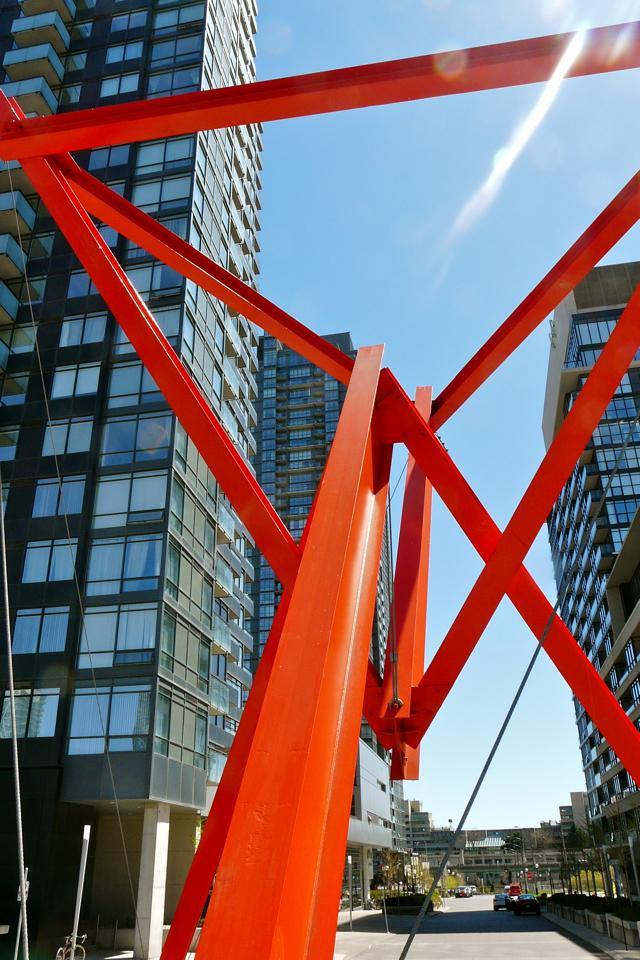 Flower Power by Mark di Suvero, Concord CityPlace Toronto