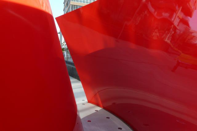 Approaching Red by Maha Mustafa, Concord CityPlace Toronto
