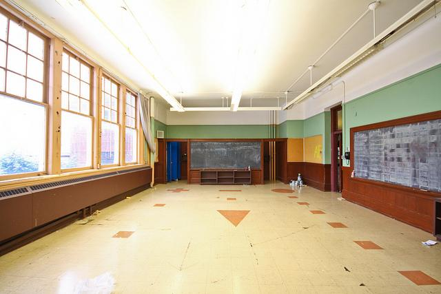 A classroom prior to renovations