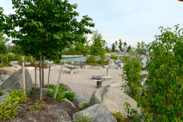 Exploring Corktown Common park by Waterfront Toronto