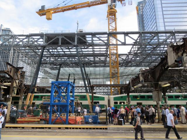 New atrium grows northwards as the Bush trainshed has been cleared from its path