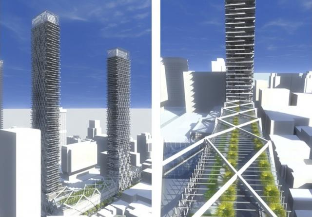 Context, winter garden, 2 Bloor West concept, renderings from architectAlliance
