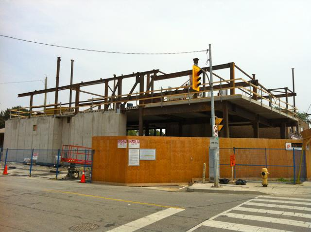 Construction proceeding on The Hive Lofts, Toronto, by Symmetry Developments