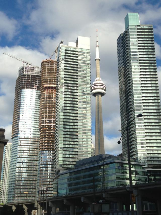 Photo of the Day, Toronto, Southcore, CN Tower, Ice Condos, Maple Leaf Square