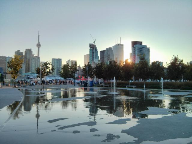 Toronto Skyline, Sherbourne Common, Toronto